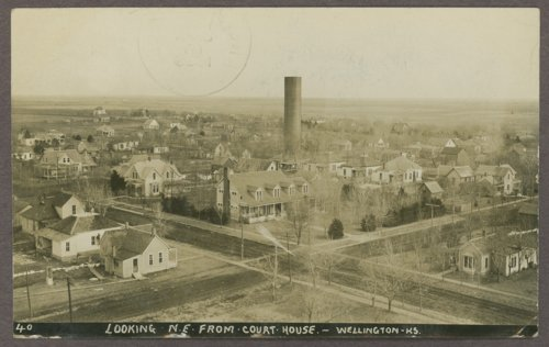 Birds-eye view of Wellington, Kansas - Page