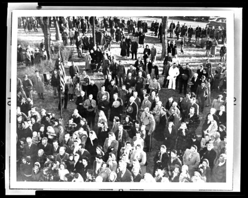 Dedication of historical marker at Trading Post cemetery, Linn County, Kansas - Page