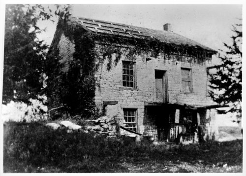 Ruins of stone house built by Augustus Wattles, Linn County, Kansas - Page
