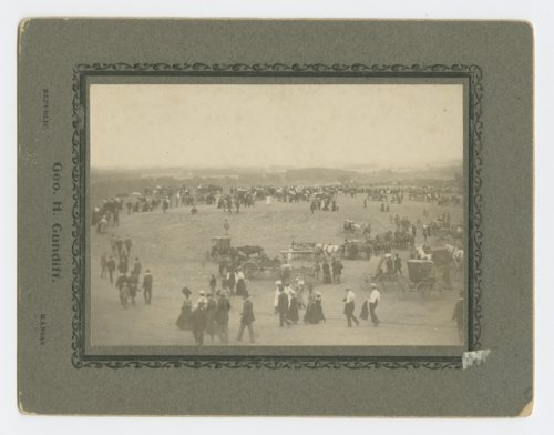 View of a celebration at Pawnee Village in Republic County, Kansas - Page