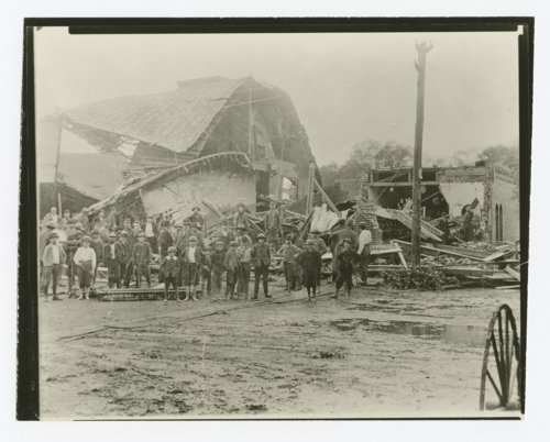 Tearing down the Ellsworth Auditorium at the Mother Bickerdyke Home, Ellsworth, Kansas - Page