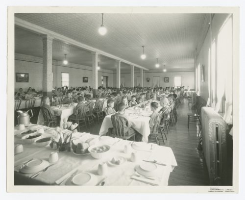 Children seated in the dining room at the State Orphans Home, Atchison, Kansas - Page