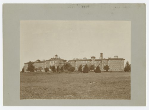 View of the main building at the Osawatomie State Hospital, Osawatomie, Kansas - Page
