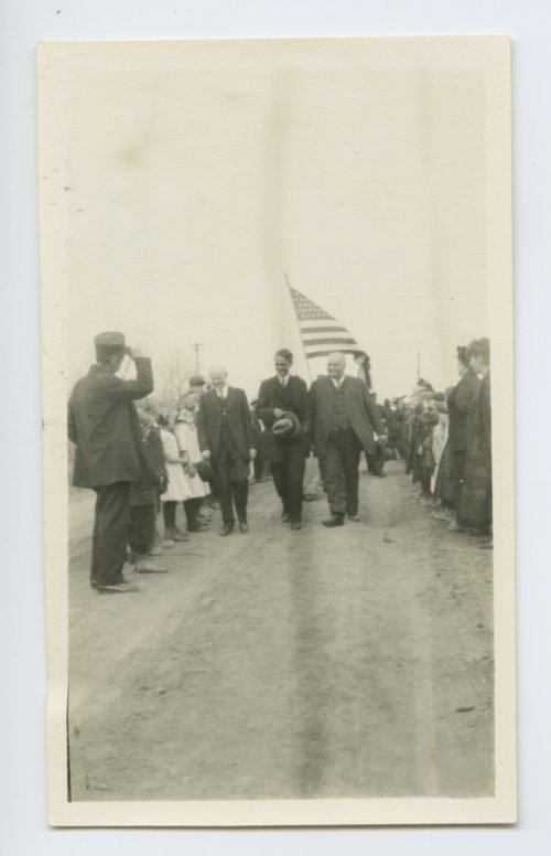 Governor Arthur Capper visiting the Kansas State Soldiers Home, Dodge City, Kansas - Page
