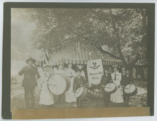 Major George Mallonee and his drum corps at the State Soldiers Home, Fort Dodge, Kansas - Page