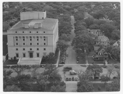 Aerial view of 10th and Van Buren Streets in Topeka, Kansas - Page