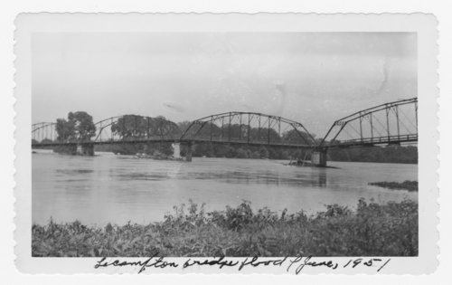 Flood at the Lecompton bridge, Lecompton, Kansas - Page