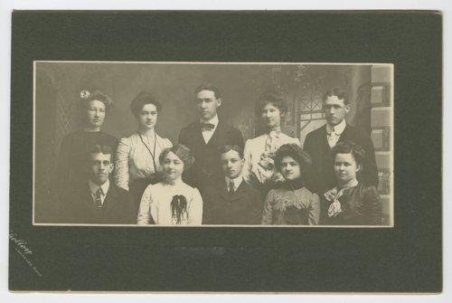 Class group at Lane University, Lecompton, Kansas - Page