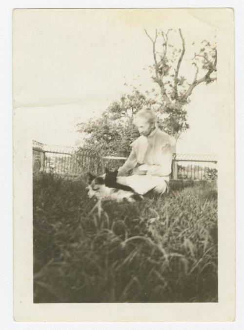 Hattie Parkerson at the Goodnow house, Manhattan, Kansas - Page