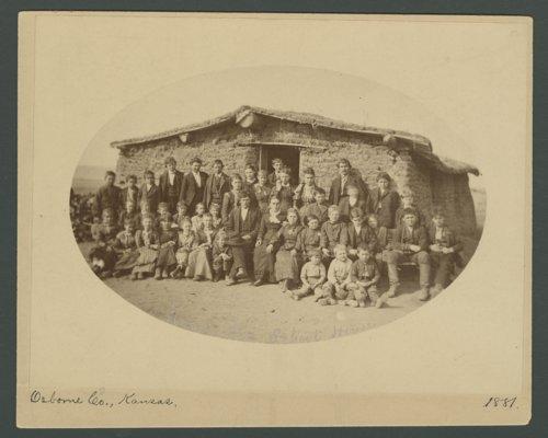 Sod schoolhouse, Osborne County, Kansas - Page