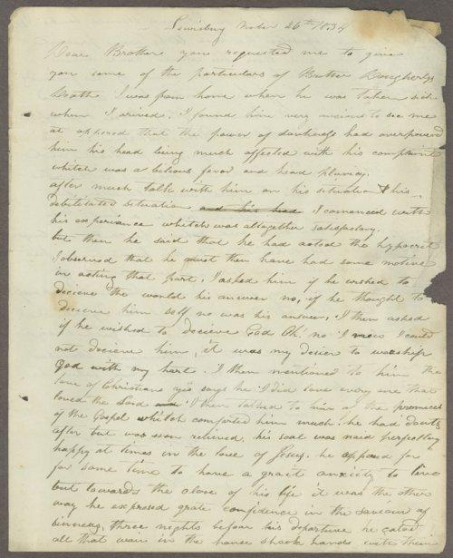 M. G. Margrave to Lewis Allen Alderson - Page