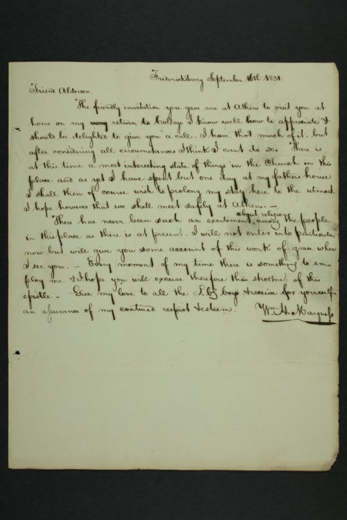 William H. Marguess to Lewis Allen Alderson - Page