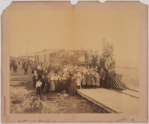 Order of Railway Conductors traveling on the Missouri Pacific Railway at Horace, Kansas - Page
