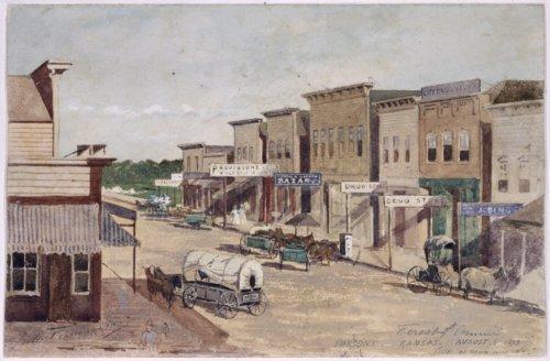 Street scene of Parsons, Kansas - Page