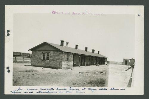 Elkhart & Santa Fe Railway Company bunkhouse, Keyes, Oklahoma - Page