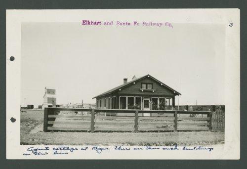 Elkhart & Santa Fe Railway Company agent house, Keyes, Oklahoma - Page