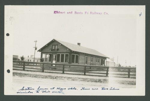 Elkhart & Santa Fe Railway Company section house, Keyes, Oklahoma - Page
