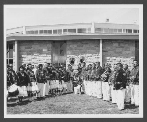 Atchison, Topeka and Santa Fe Railway Company band, Window Rock, Arizona - Page