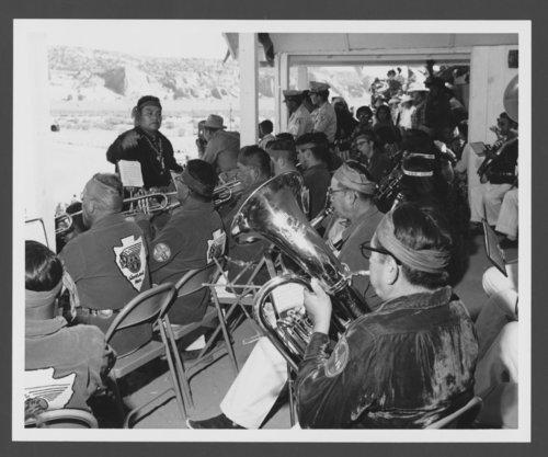 Atchison, Topeka & Santa Fe Railway Company band, Window, Arizona - Page