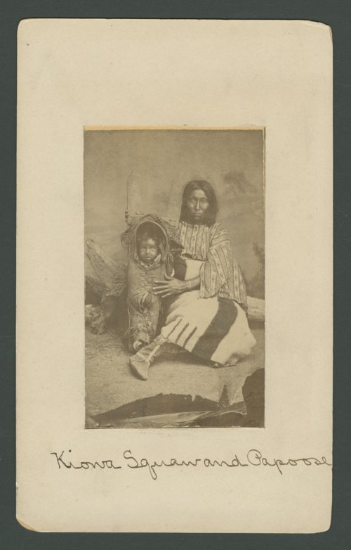 Native American woman and baby in Indian Territory - Page