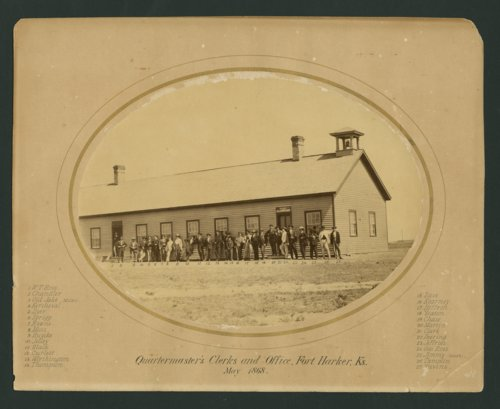Quartermaster's clerks and office at Fort Harker, Kansas - Page