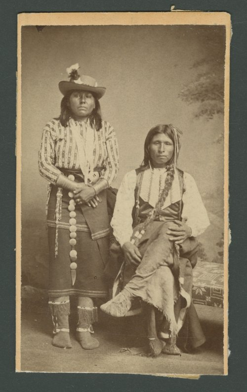 Kichai man and woman, in Indian Territory - Page