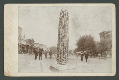 Giant ear of corn, Burr Oak, Kansas - Page