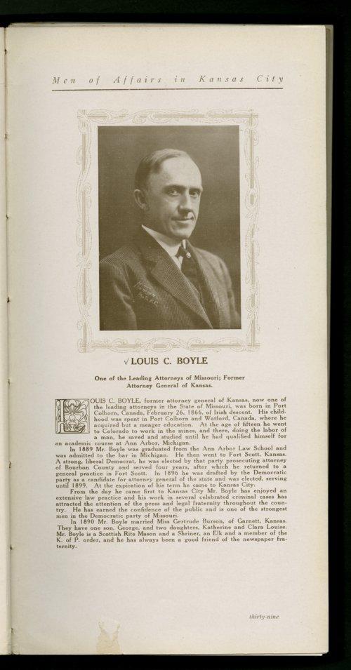 Louis C. Boyle - Page