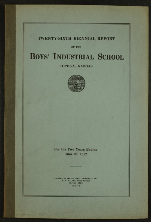 Biennial report of the Boys Industrial School, 1932 - Page