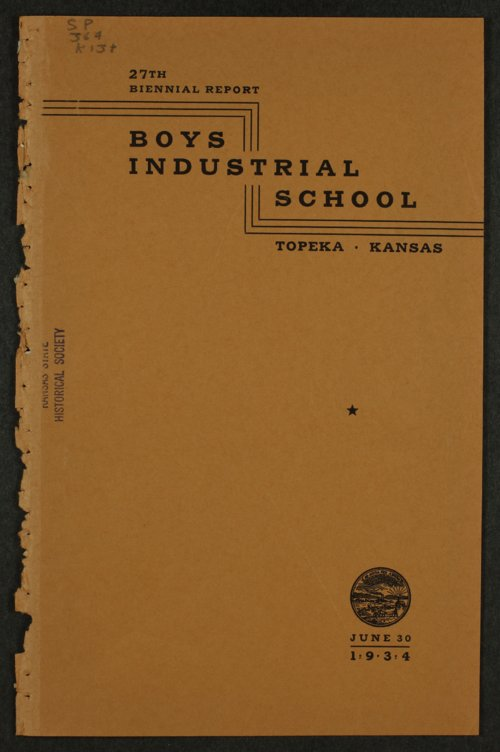 Biennial report of the Boys Industrial School, 1934 - Page