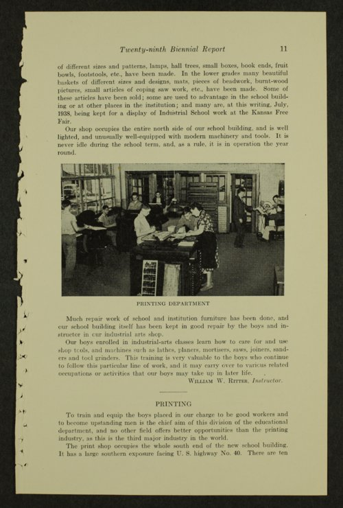 Biennial report of the Boys Industrial School, 1938 - Page