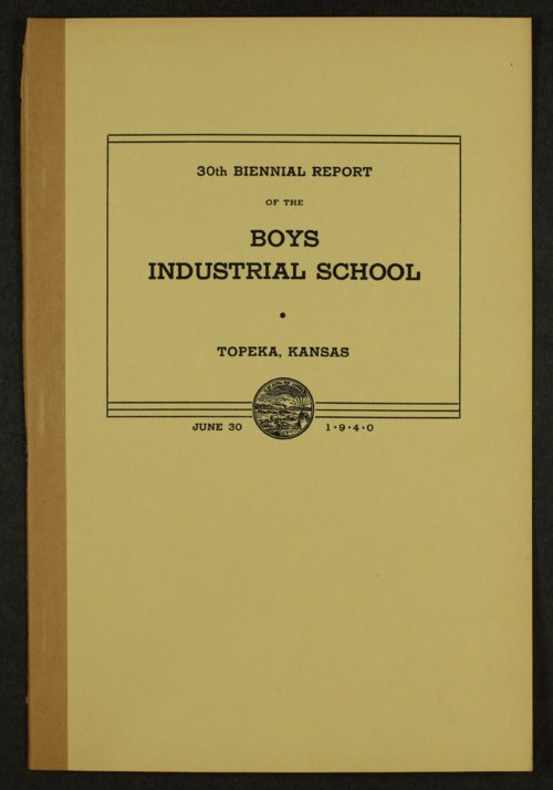 Biennial report of the Boys Industrial School, 1940 - Page