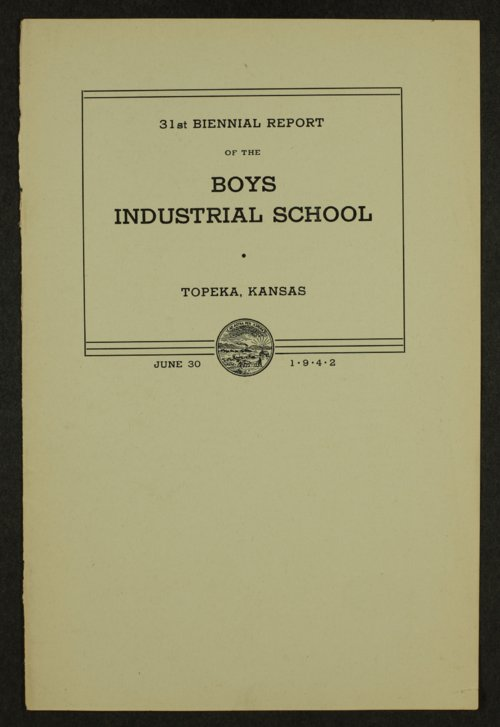 Biennial report of the Boys Industrial School, 1942 - Page