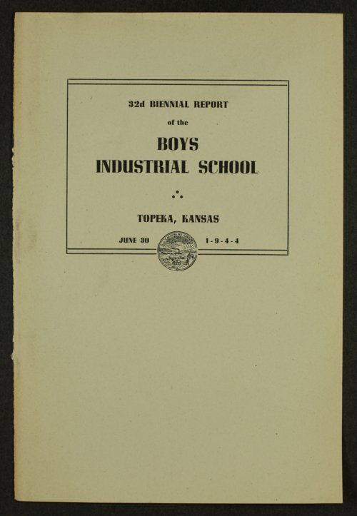 Biennial report of the Boys Industrial School, 1944 - Page