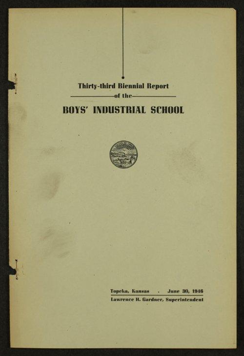 Biennial report of the Boys Industrial School, 1946 - Page