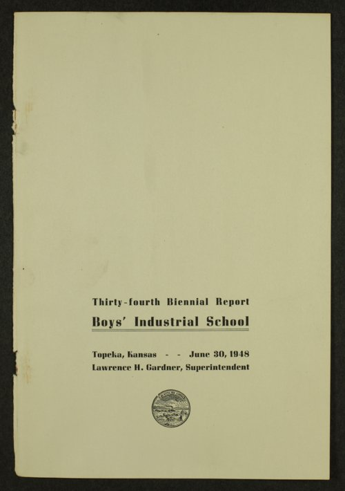 Biennial report of the Boys Industrial School, 1948 - Page