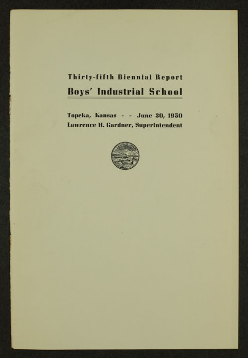 Biennial report of the Boys Industrial School, 1950 - Page