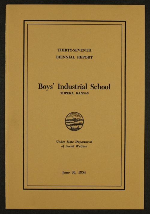 Biennial report of the Boys Industrial School, 1954 - Page