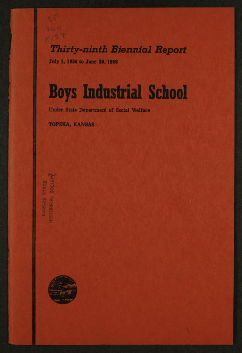 Biennial report of the Boys Industrial School, 1958 - Page