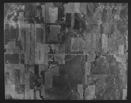 Aerial photograph of Lincoln County, Kansas - Page