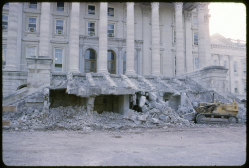 Construction on the Kansas capitol steps in Topeka, Kansas - Page