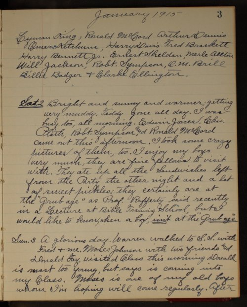 Martha Farnsworth diary - Page