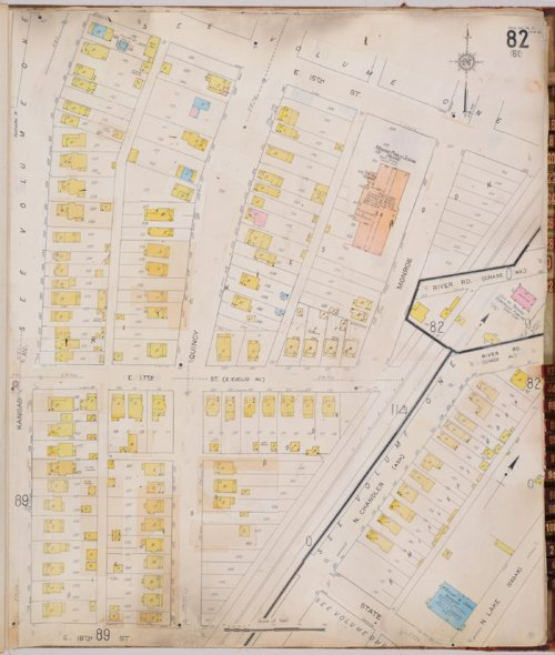Sanborn Fire Insurance map showing Monroe Public School in Topeka, Kansas - Page