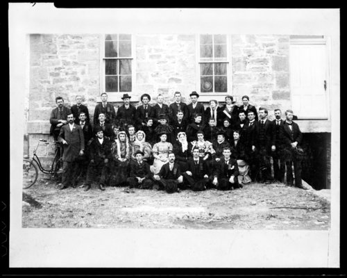 Class group at Lane University, Lecompton, Kansas - Page