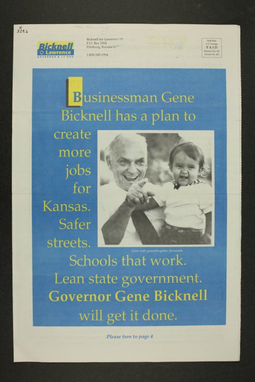 Bicknell for Governor '94 - Page