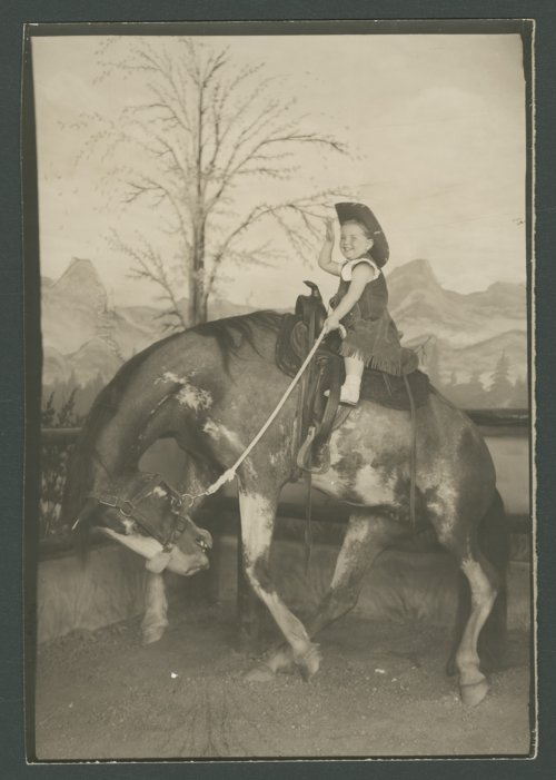 Patricia Michaelis posed on a horse - Page