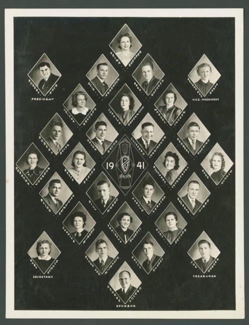 1941 Canton High School senior class in Canton, Kansas - Page