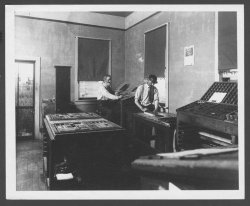 Newspaper office, Dodge City, Kansas - Page