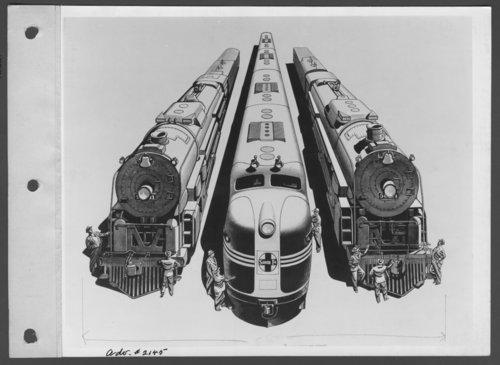 Atchison, Topeka & Santa Fe Railway Company's steam locomotives & diesel engine - Page
