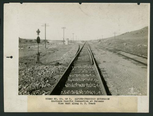 Kansas City, Mexico & Orient Railroad tracks, Paisano, Texas - Page